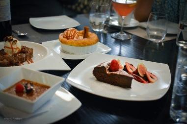 Pan de Plátano, Helado de Cardamomo, Tarta de Manzana, Pastel de Chocolate