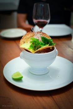 Pozole de Sopa de cebolla