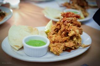 Taco de softshell crab Teriyaki