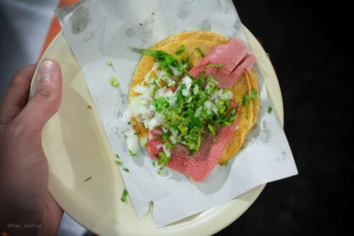 Taco de lengua (beef tongue)